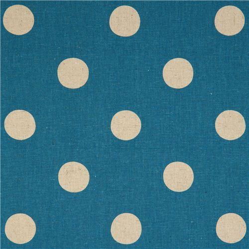 blue echino polka dot poplin fabric maruco