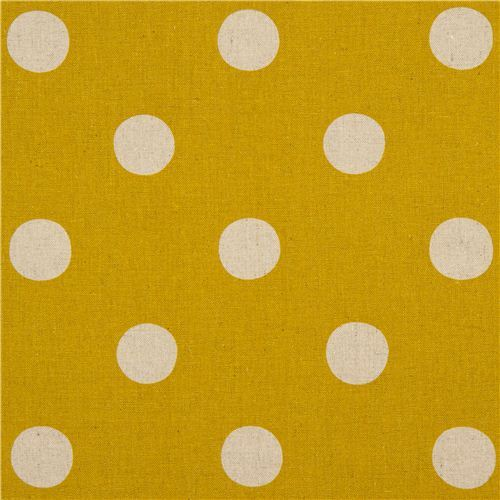 yellow echino polka dot poplin fabric maruco