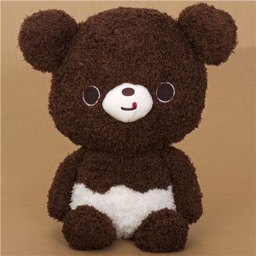 cute very big brown Chocopa bear plush toy by San-X