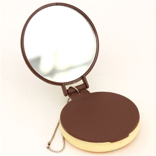 Soft squishy on the outside, pocket mirror on the inside