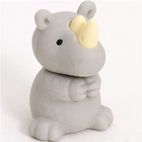 grey rhinoceros eraser by Iwako from Japan