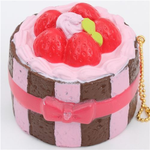 Premium Cafe de N brown pink charlotte cake squishy charm kawaii