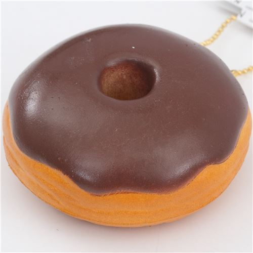 cute donut brown icing squishy charm kawaii
