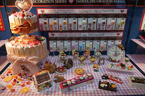 Some of the amazing clay sweets at the Japan Hobby Show.