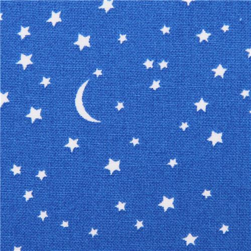 blue Star and moon fabric by Michael Miller USA