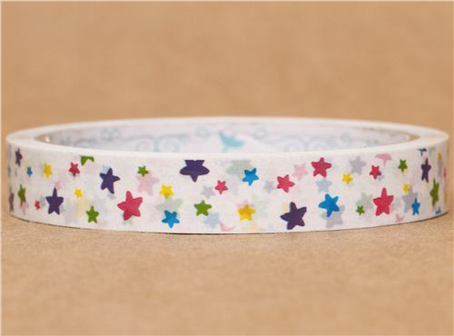 cute colourful star deco tape sticky tape from Japan