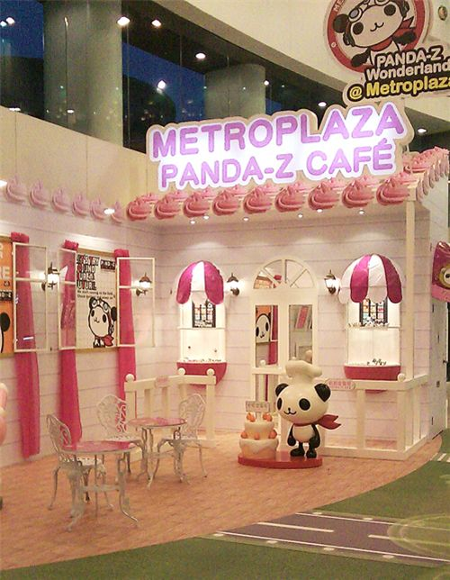 Panda-Z Cafe in Hong Kong shopping mall 1