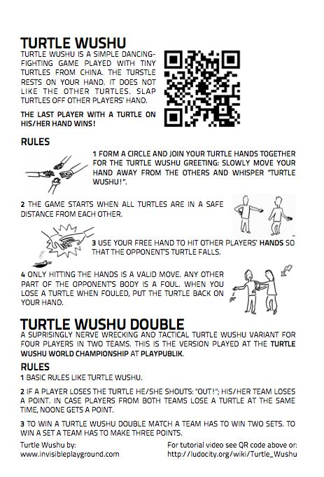 Take a look at the Turtle Wushu rules