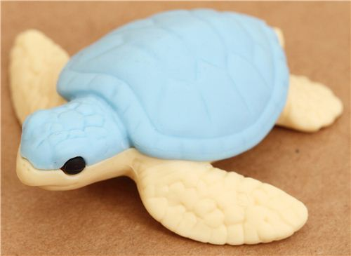 blue sea turtle eraser by Iwako
