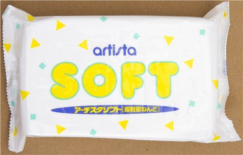 white extremely lightweight Artista Soft clay Japan
