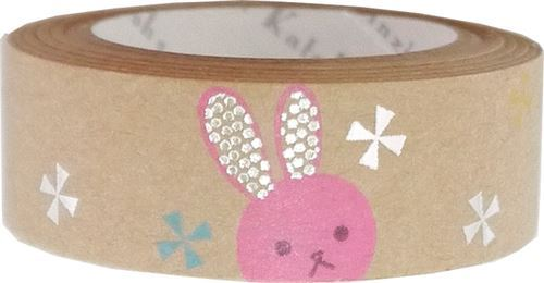 brown cute rabbit silver metallic craft Tape deco tape Shinzi Katoh Japan