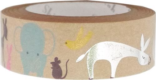 brown deer elephant silver metallic craft Tape deco tape Shinzi Katoh Japan