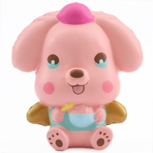 pink puppy dog scented squishy by LeiLei