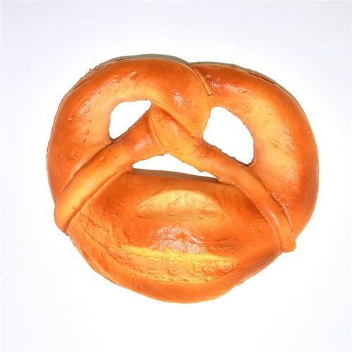 scented big brown Jumbo Pretzel bread squishy by Kiibru