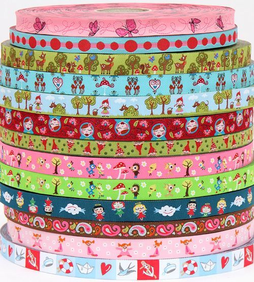the green ribbon with the deer and squirrel is our top seller for ribbons