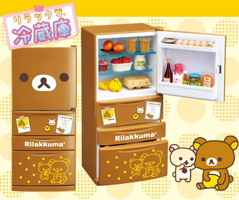 Super cute stickers make our Rilakkuma Fridge Re-Ment look like the adorable bear