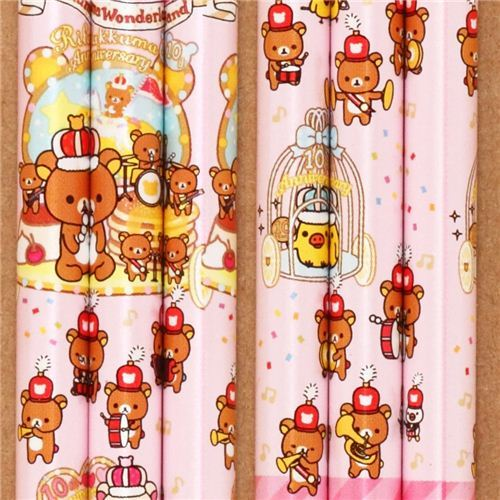 pale pink Rilakkuma Wonderland pencil bear crown band