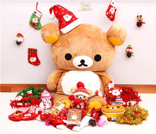 Rilakkuma picked his favorite Christmas presents from our shop