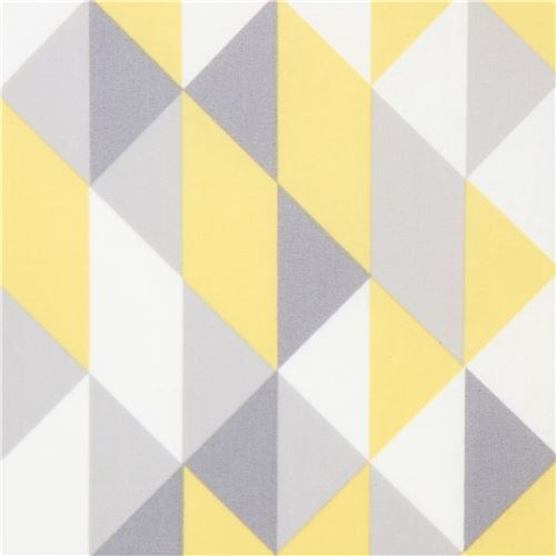 yellow grey shape laminate organic fabric by Cloud 9 Simpatico