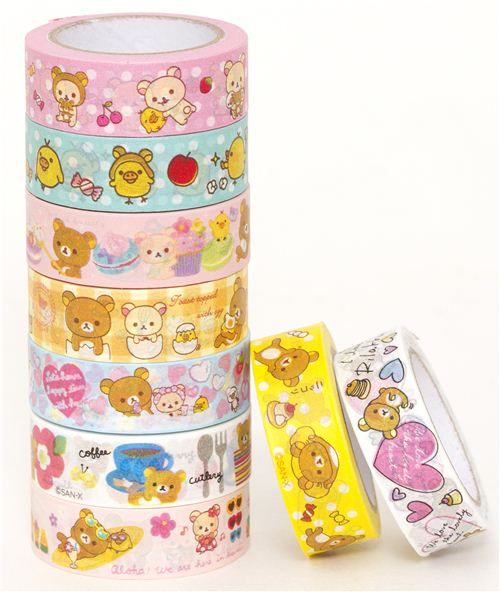 The Rilakkuma Washi Tapes are quite new in our shop