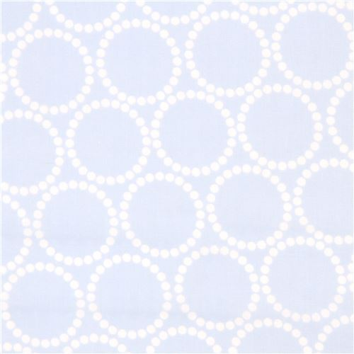 light blue cute dot circle double gauze fabric by Andover The Hit Parade
