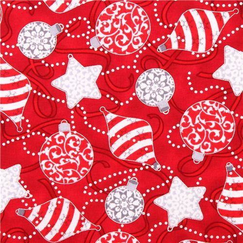 Tree ornaments Christmas fabric Quilting Treasures