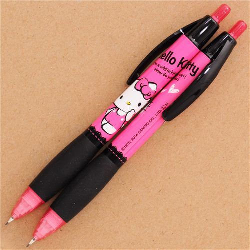 black-pink Sanrio Hello Kitty mechanical pencil from Japan