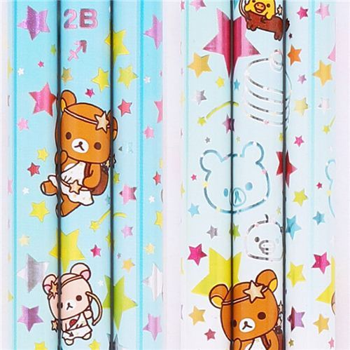 blue zodiac sign Sagittarius Rilakkuma bear pencil San-X