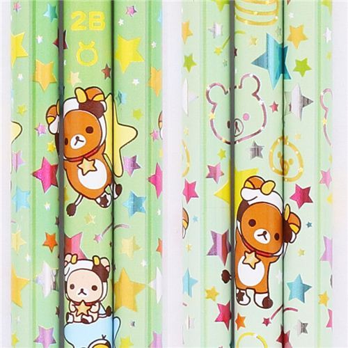 green zodiac sign Taurus Rilakkuma bear pencil San-X