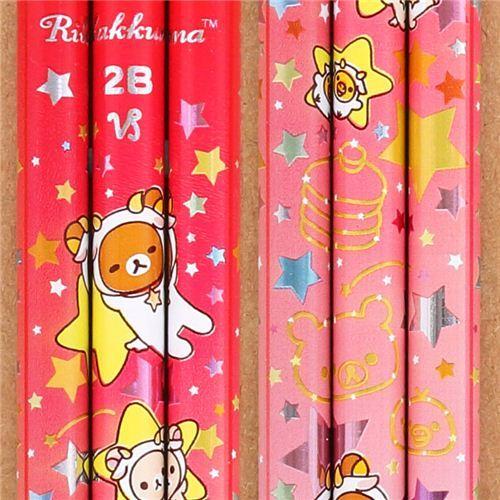 pink-red zodiac sign Capricorn Rilakkuma bear pencil San-X