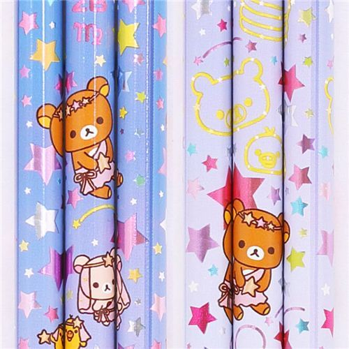 purple zodiac sign Virgo Rilakkuma bear pencil San-X