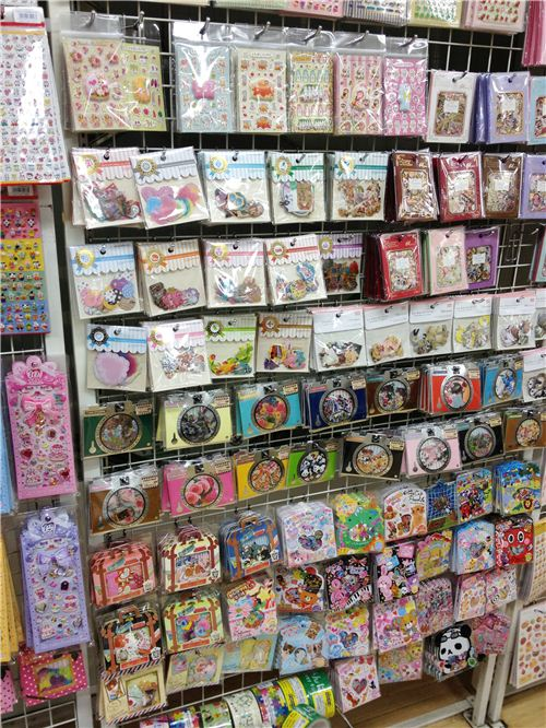 Tons of sticker bags in Sunshine City