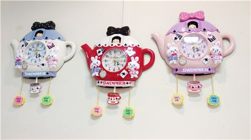 Super kawaii clocks with Alice in Wonderland themes