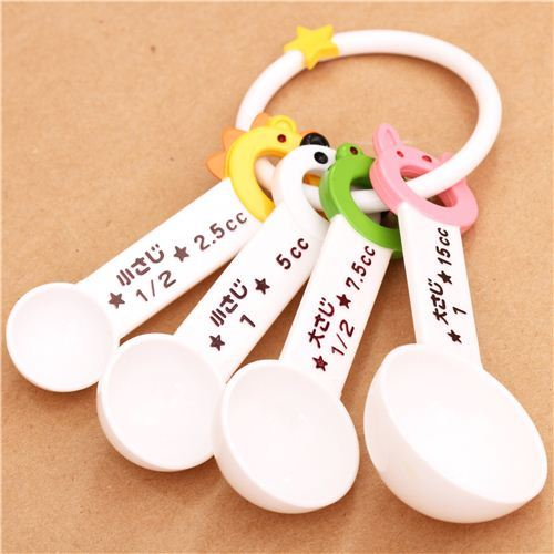Wow animal bento measuring spoon set ring 4pcs Japan