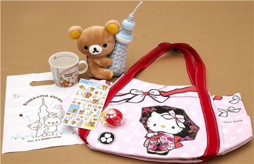 Two people will win these Rilakkuma & Hello Kitty packages