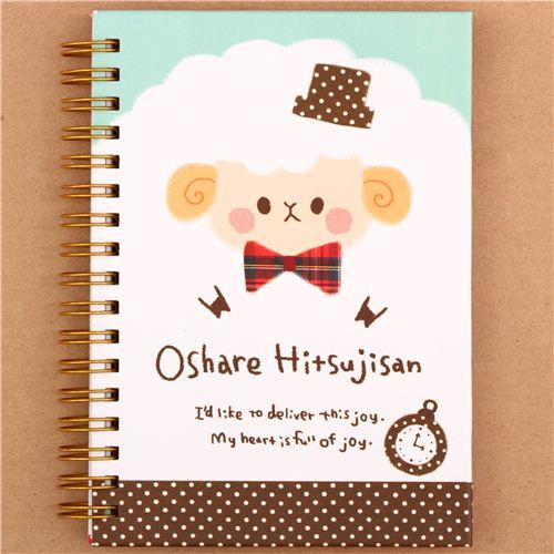 Japanese funny sheep and cat ring binder notebook by Kamio