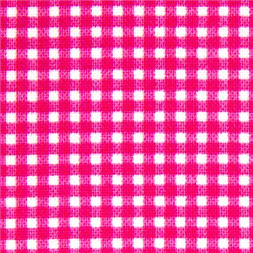 magenta checkered Michael Miller fabric Gingham pattern