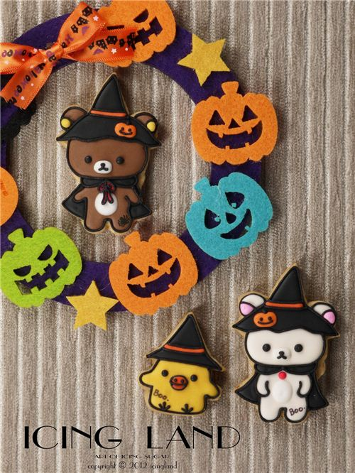 Great Rilakkuma Halloween cookies