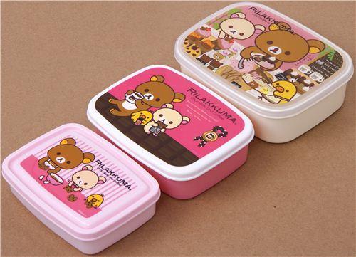 Rilakkuma Bento Box 3 pcs Lunch Box chocolate coffee