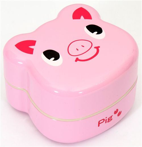 pink pig Bento Box lacquer lunch box Prime Nakamura