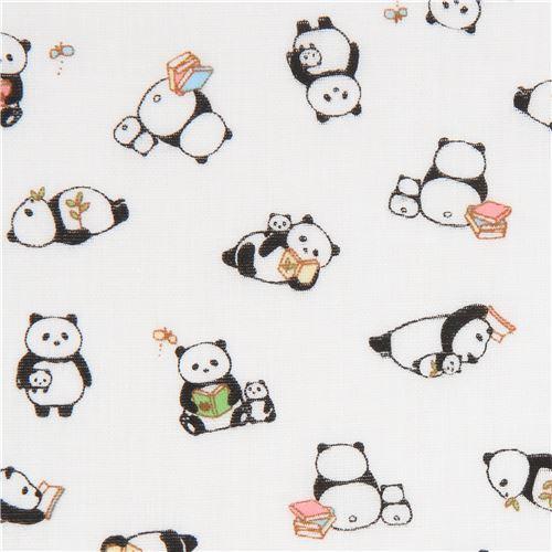 white double gauze fabric panda animal from Japan