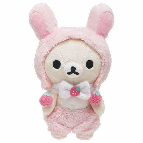 cute Korilakkuma teddy bear in bunny rabbit costume strawberry by San-X