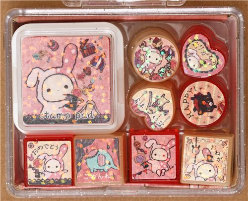 cute Sentimental Circus stamp set by San-X