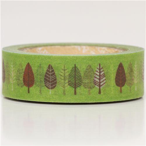 green leaf Washi Masking Tape deco tape
