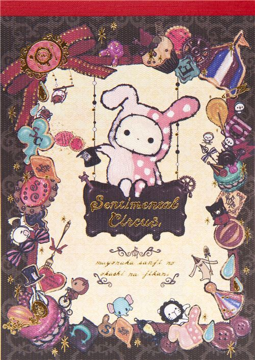 Sentimental Circus Memo Pad with rabbit & sweets