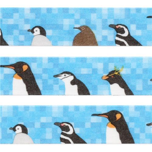 blue penguin paper deco tape by Prime Nakamura