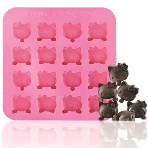 pink Hello Kitty silicone chocolate mold