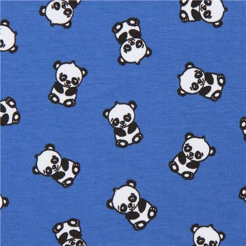 dark blue panda knit jersey fabric by Stof Fabrics