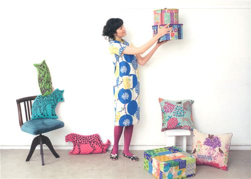 This dress is an absolute eyecatcher - but the funny animal pillows are too
