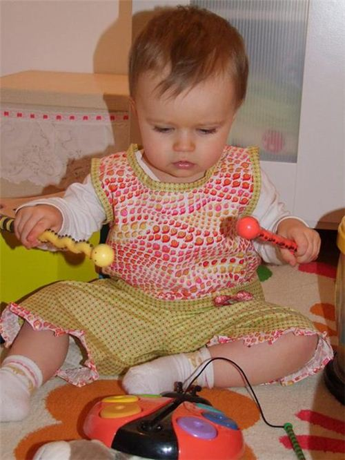 Samantha made adorable toddler wear with our snail fabric